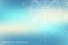 Graphic abstract background communication. Big data visualization. Connected lines with dots. Social networking Royalty Free Stock Photos