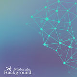 Graphic abstract background communication. Big data visualization. Perspective backdrop with connected lines and dots Stock Photos
