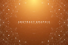 Graphic abstract background communication. Geometric scientific pattern with compounds  Stock Photo