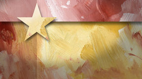 Graphic abstract background geometric star yellow. Geometric abstract graphic brush background with star Stock Images