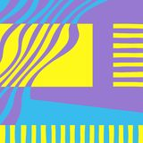 Graphic abstract Background. Yellow, blue and violet colors. stock illustration