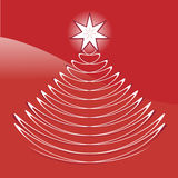 Graphic abstract christmas tree. Of modern style for design Royalty Free Stock Images