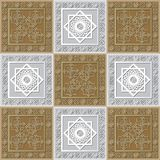 Graphic pattern with a bas-relief of Ramadan 31. Graphic abstract decorative tile with Ramadan patterns. Suitable for textile, wallpaper, wrapping, packaging Stock Photo