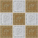 Graphic pattern with a bas-relief of Ramadan 38. Graphic abstract decorative tile with Ramadan patterns. Suitable for textile, wallpaper, wrapping, packaging Stock Photography