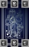 Graphical illustration of a Tarot card 6_2 Stock Illustration