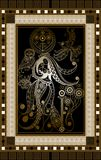 Graphical illustration of a Tarot card 6 Stock Illustration