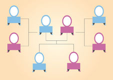 Graphic abstract family tree royalty free illustration