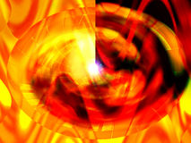 Graphic abstract flames. And swirled shapes in red, yellow, orange and black Royalty Free Stock Images