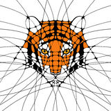 Graphic abstract Illustration of a tiger Stock Photo