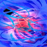 Graphic abstract light waves Stock Images