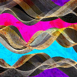Graphic abstract light waves Stock Photos
