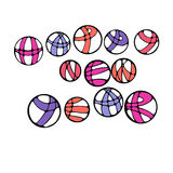 Graphic abstract multicolor illustration Stock Images