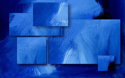 Graphic abstract rectangular background. Digital illustration design of geometric rectangles composed of textured oil paint brush strokes Stock Photo