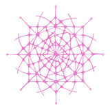 Graphic abstract snowflake illustration Royalty Free Stock Photo