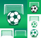 Graphic advertising design composed of soccer ball Royalty Free Stock Image