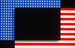 Graphic of American flag stars and stripes Stock Photos