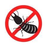 Graphic anti termite, vector. Graphic anti termite  on white background Royalty Free Stock Photo