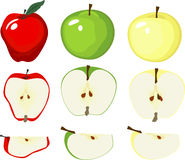 Graphic Apple Variety Stock Photography