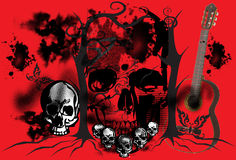Graphic art on the skull Royalty Free Stock Photography