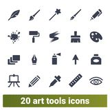 Graphic And Art Tools Vector Icons Set vector illustration