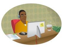 Graphic artist headphones Royalty Free Stock Image