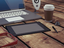 Graphic artist workspace. Royalty Free Stock Photography