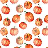 Graphic artistic abstract bright cute autumn ripe tasty colorful. Halloween orange pumpkins pattern watercolor hand illustration. Perfect for textile vector illustration