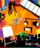 Graphic arts layout Stock Photos