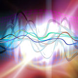 Graphic Audio Waveform. An audio waveform over an abstract background Royalty Free Stock Images