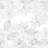 Graphic  autumn leaves. Vector illustartion of graphic  autumn leaves. Seamless pattern. Hand draw Royalty Free Stock Image