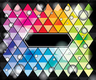 Graphic background. With color rhombus Royalty Free Stock Image