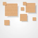 Graphic background of cardboard squares Stock Photography