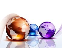 Graphic background with color globes Stock Photo