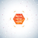 Graphic background dots with connections . Watercolor hexagon shapes for your text and design. Vector illustration Royalty Free Stock Photography