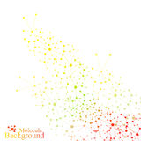 Graphic background molecule and communication. Colorful Dots with connections for your design. Vector illustration Stock Image