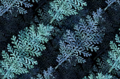 graphic background with silver leaf Stock Images