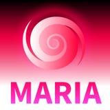 Graphic banner of hurricane Maria