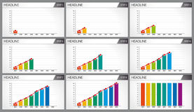Graphic of 8 bars of different colors.   Royalty Free Stock Images