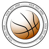 Graphic basketball logo. Vector isolated illustration of a basketball association or a sports event logo, sign, symbol. Stock Photo