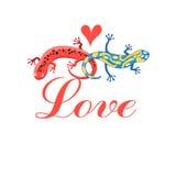 Graphic beautiful lovers Stock Photo