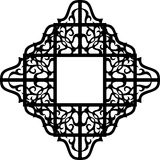 Graphic black ornament east frames Stock Image
