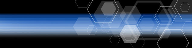 Graphic blue background design. Graphic pantone blue color background design and Geometry hexagon pattern Royalty Free Stock Images