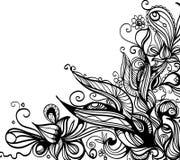 Graphic border. Decorative hand drawn black and white border royalty free illustration