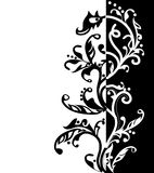 Graphic border with room for text. Striking black and white graphic with a wide variety of possible usage stock illustration