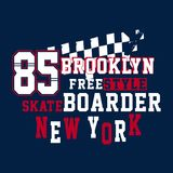 Graphic BROOKLYN FREESTYLE. Graphic design BROOKLYN FREESTYLE for shirt and print Royalty Free Stock Photos