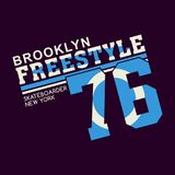 Graphic BROOKLYN FREESTYLE. Graphic design BROOKLYN FREESTYLE for shirt and print Royalty Free Stock Image