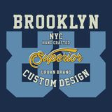 Graphic brooklyn nyc superior Stock Photography