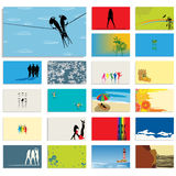 Graphic business card set Royalty Free Stock Image