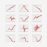 Graphic business ratings and charts collection Stock Photos