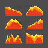 Graphic business ratings and charts collection Royalty Free Stock Photo